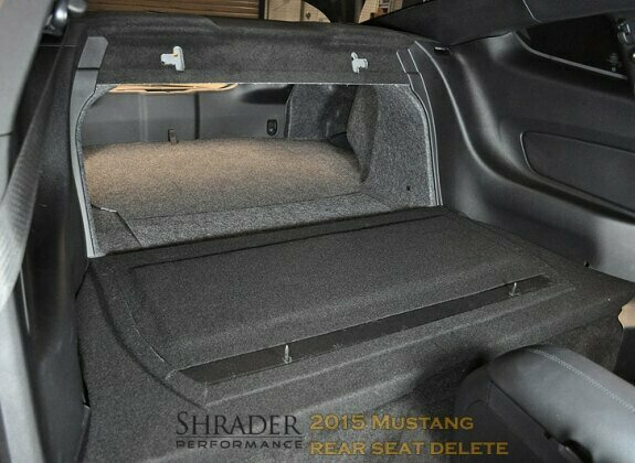 Shrader Performance 2017 2019 Mustang Rear Seat Delete Coupe