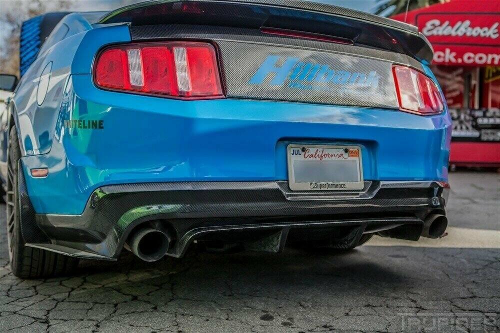 Trucarbon 2010 2012 Mustang Carbon Fiber Lg58 Rear Diffuser