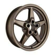"""Race Star Drag Wheel 17"""" x 4.5"""" - Matte Bronze Finish (1979-2014 Mustang, Excludes 2013-2014 GT500, 2015+ Mustang NON Brembo) - 92-745142MBZ"""