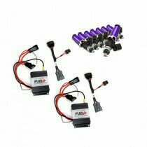 2007-2010 Shelby GT500 Dual 40amp Plug and Play Fuel+ Pump Voltage Boosters and ID1050X Fuel Injectors