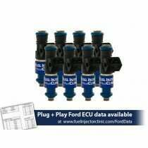 Fuel Injector Clinic 1200cc (110 lbs/hr at 43.5 PSI fuel pressure) Fuel Injector Set for Ford Shelby GT500 (2007-2014) / Ford GT40 (2005-2006)(High-Z)