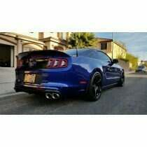 Corsa Performance 14317-4 Quad Tip Xtreme Axle Back Exhaust System with Polished Tips (2011-2014 5.0L Mustang GT / 2013-2014 5.8L Shelby GT500)