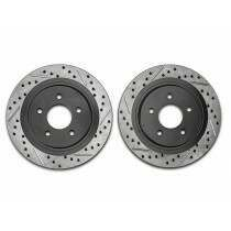 Stoptech 127.61087L Sport Cross-Drilled and Slotted Rear Drivers Side Rotor (2005-2014 All, Excluding 2013-2014 GT500)