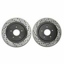Stoptech 227.61087L Sport Cross-Drilled Rear Driver Side Rotor (2005-2014 All, Excluding 2013-2014 GT500)