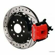 "Wilwood 94-04 Mustang Combination Parking Brake and Caliper 13"" Rear Brake Kit (Drilled/Slotted - Red)"
