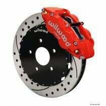 "Wilwood 94-04 Mustang 14"" Forged Narrow Front Superlite 6R Big Brake Kit (Drilled/Slotted - Red)"