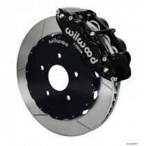 "Wilwood 94-04 Mustang 14"" Forged Narrow Front Superlite 6R Big Brake Kit (Slotted - Black)"