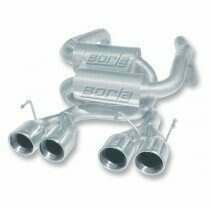 Borla Cat-back Exhaust System - Stainless Steel, Split Rear Exit w/ Dual Round Tip (2005 Corvette C6) - 140129