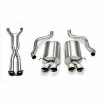 "Corsa 14169CB4 2.5"" Dual Rear Exit Sport Catback Exhaust System with 3.5"" Polished Tips (2005-2008 C6 Corvette)"