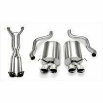 "Corsa 14169CB6 2.5"" Dual Rear Exit Sport Catback Exhaust System with 3.5"" Polished Tips (2006-2008 C6 Corvette Auto Trans Only)"