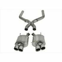 """Corsa Performance 14323 3"""" Sport Axle-Back with 4"""" Polished Pro Series Tips and X Pipe (2013-2014 5.8L Shelby GT500)"""