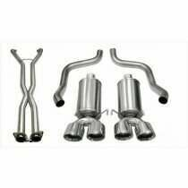 "Corsa 14470CB 2.5"" Dual Rear Exit Xtreme Catback Exhaust System with X-Pipe and 3.5"" Polished Tips (2009-2013 C6 Corvette)"