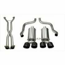 "Corsa 14470CBBLK 2.5"" Dual Rear Exit Xtreme Catback Exhaust System with X-Pipe and 3.5"" Black Tips (2009-2013 C6 Corvette)"