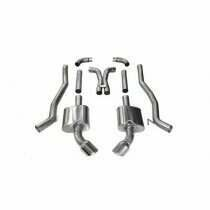 """Corsa 14968 3"""" Dual Rear Exit Xtreme Catback Exhaust System with 4.5"""" Polished Tips (2012-2015 6.2L Camaro SS Manual )"""