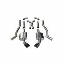 """Corsa 14968BLK 3"""" Dual Rear Exit Xtreme Catback Exhaust System with 4.5"""" Black Tips (2012-2015 6.2L Camaro SS Manual )"""