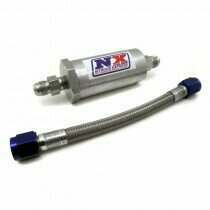 Nitrous Express D-4 Pure-Flo N20 Filter & 7 Inch Stainless Hose (Lifetime Cleanable)