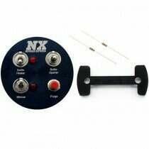 "Nitrous Express Gauge Pod Switch Panel (For 2-1/16"" Gauge Pods) - 15792"