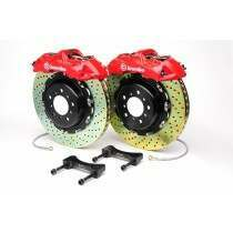 Brembo 94-04 Mustang Gran Turismo Front 355mm Brake Kit w/ 2pc Drilled Rotors and 6 Piston Calipers
