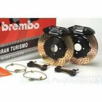 Brembo Mustang 380mm Big Brake Kit w/ 2pc Drilled Rotors and 6 Piston Calipers (07-2012 GT500 / 2011-2014 Mustang GT w/ OEM Brembo's ; Boss 302)