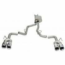 """Corsa 2.5"""" Sport Cat Back Exhaust System with 4"""" Polished Quad Tips (2020-2021 Explorer ST) - 21080"""