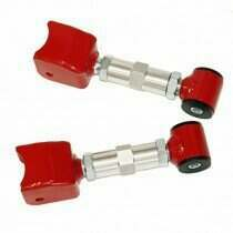 J&M 79-04 Mustang Double Adjustable Street Upper Control Arms with Poly Ball Bushing (Red)