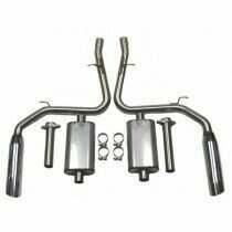 """Bassani 46975S 1996-1997 Mustang Cobra / GT  Stainless After-Cat w/3"""" Slash Cut Tips"""