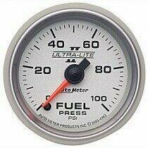 "Autometer Ultra-Lite II Series 2-1/16"" 0-100 PSI Electric Fuel Pressure Gauge"