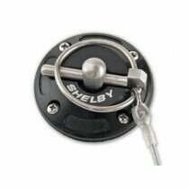 Shelby Performance Black Billet Hood Pin Kit (Shelby Logo)