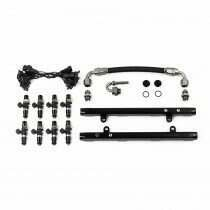 Deatschwerks 7-301-OE-1200 5.0L Coyote Fuel Rails with Crossover and 1200cc Fuel Injectors (Ford Mustang V8 2011-17 / Ford F-150 V8 2011-17 / 2015-19 GT350 / 2012-13 Boss 302)