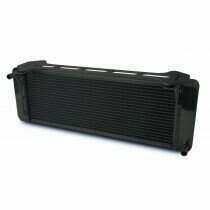 AFCO 99-04 Lightning/Harley Davidson PRO Series Double Pass Heat Exchanger (Black Thermal Coat)