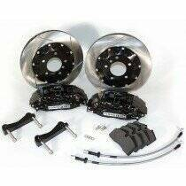 Stop-Tech 94-04 Mustang 332mm Big Brake Kit (Black Caliper - Slotted Rotor)