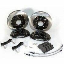 Stop-Tech 05-2014 Mustang GT Big Brake Kit (355x32mm Slotted Rotors-Black 4 Piston Calipers)