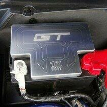 UPR Mustang 5.0L Billet Factory Battery Cover with GT Logo (Satin)