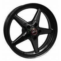 Race Star RSI-92-850145B* 92 Drag Star Bracket Racer Gloss Black  18x5 5x4.50BC 2.00BS (2011-2014 Mustang GT / 2012-2013 Boss 302 / 2013 & 2014 GT500 & 2015+ GT w/ Standard or Upgraded Brake Pkg)