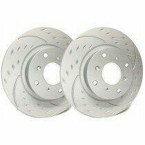 SP Performance Rotor D54-131 Diamond Slotted Brake Rotors with Gray ZRC Coating  (2005-2009 Ford Mustang Base - With 4.0L V6 Engines)