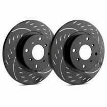 SP Performance Rotor D54-011-BP Diamond Slotted Brake Rotors with Black Zinc Plating (1994-2004 Ford Mustang Gt)(Black)