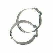 Fragola -6an Stainless Steel Band Clamps (2 Pieces)