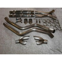 "Stainless Works 04 GTO ""Retro 64-65"" Chambered Exhaust w/X-Pipe"