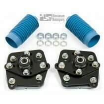 Maximum Motorsports 03-04 Cobra 4-bolt Caster/Camber Plates-Black Powdercoat - MMCC0304