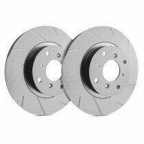 SP Performance Rotor T54-01 Slotted Brake Rotors with Gray ZRC Coating  ( Ford Mustang With Front Disc Brakes - Except Boss)