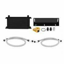 Mishimoto 79-93 Mustang 5.0L Direct Fit Oil Cooler Kit (Black w/ Thermostatic Sandwich Plate)