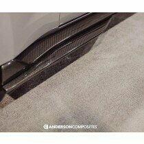 Anderson Composites AC-SX20FDMU500 2020 Mustang Shelby GT500 Carbon Fiber Rocker Panel Splitter Extensions (Pair)