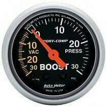 "Autometer Sport Comp 2-1/16"" Mechanical-30/+30 Boost/Vac Gauge"