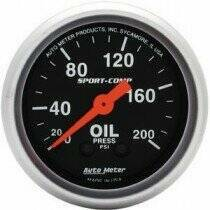"Autometer Sport Comp 2-1/16"" Mechanical 0-200psi Oil Pressure"