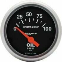 Autometer Sport Comp Electric 0-100 PSI Oil Pressure Gauge