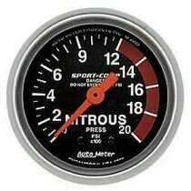 """Autometer Sport Comp 2-1/16"""" Mech. 0-2000Psi Nitrous Pressure"""