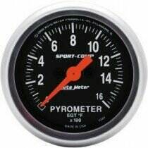 "Autometer Sport Comp Series 2 1/16"" Electric Pyrometer Gauge"