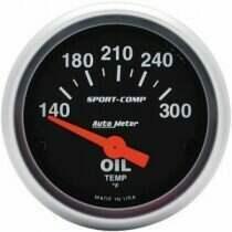"""Autometer Sport Comp 2 1/16"""" Electric 140-300deg Oil Temp. Gauge"""