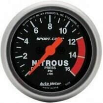 "Autometer Sport Comp 2-1/16"" Electric Nitrous Pressure Gauge"