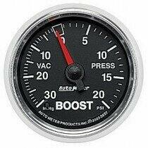 "Auto Meter GS Series 2 1/16"" -30/+20 Boost Gauge"